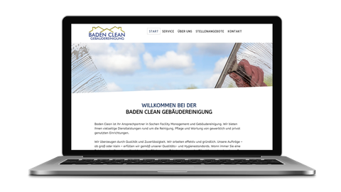 Baden Clean Gebäudereinigung - poweredy by Giangrasso Webdesign aus Karlsruhe.