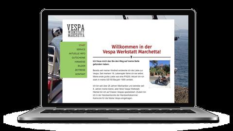 Vespa Werkstatt Marchetta - poweredy by Giangrasso Webdesign aus Karlsruhe