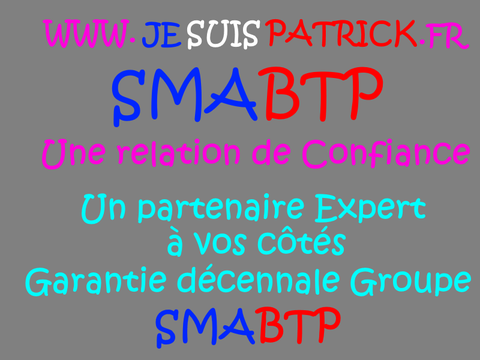 SMABTP… LIBERTÉ D'EXPRESSION www.jesuispatrick.fr  Site de www.maisonnonconforme.fr  Patrick DEREUDRE Je suis LANCEUR D'ALERTE