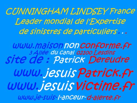 CUNNINGHAM LINDSEY France. JE SUIS UN LANCEUR D'ARLERTE : voir site www.maisonnonconforme.fr de Patrick DEREUDRE