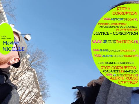 Acte 16 Le 16 Février 2019 Je me fais connaître auprès de Monsieur Maxime NICOLLE / je me rends à Paris pour y rencontrer des Journalistes www.jesuispatrick.com