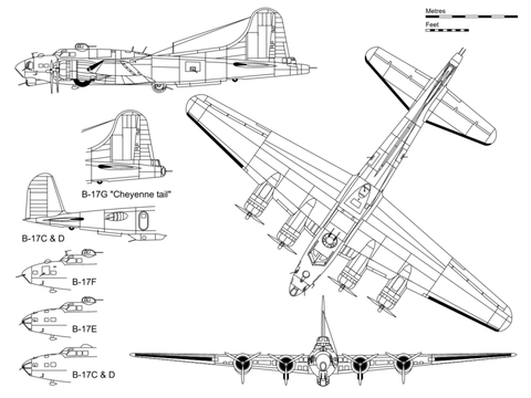 Plan du B17G (source : wikipedia.org)
