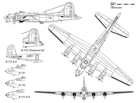 Plan du B17G (source : wikipedia.org)