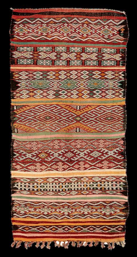 Teppich. Zürich. Vintage Kilim from the Zayan Tribe, Middle Atlas, Morocco. Handgewebter Teppich, Kelim, von Marokko.