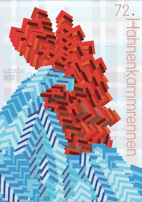 Hahnenkammrennen Poster Design by Cindy Leitner 2012
