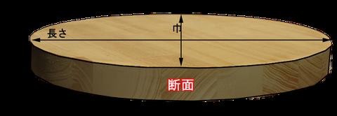 木材の断面