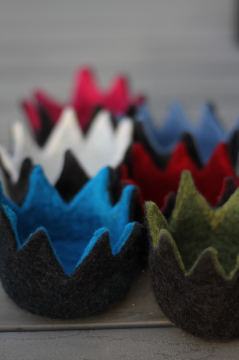 Elfentöpfchen / Felted little baskets