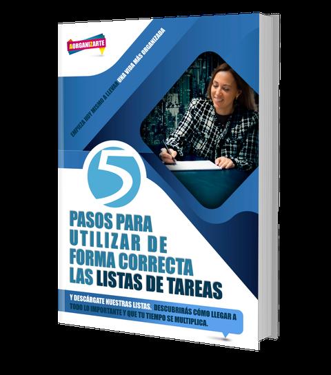 """Libro sobre los """"5 pasos para utilizar de forma correcta las listas de tareas"""""""