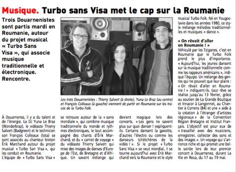 Télégramme du 6/02/2013 - Claude Le Gouill