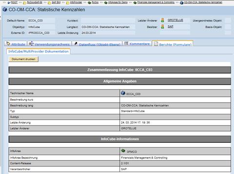 SAP-BW - Formular InfoCube