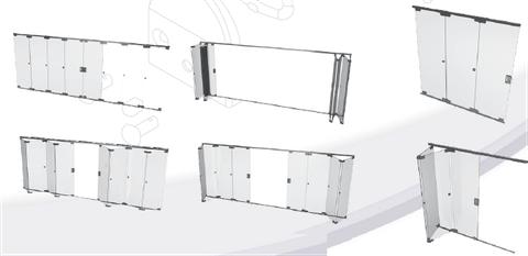 Sistemas para puertas corredizas plegadizas herrajes for Sistema para puertas corredizas