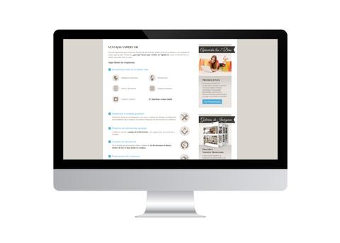 Página web de tapidecor vista en iMac