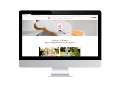 Página web de Dulce Dorotea vista en iMac
