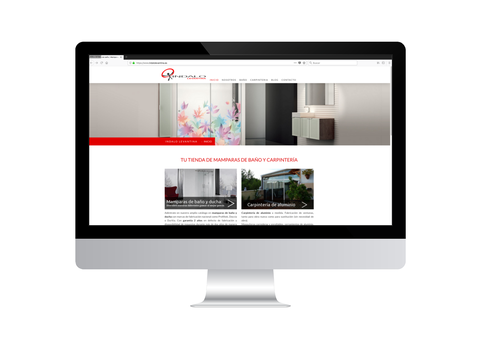 Página web de Indalo Levantina vista en iMac