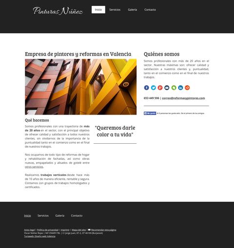 Página web sencilla y económica