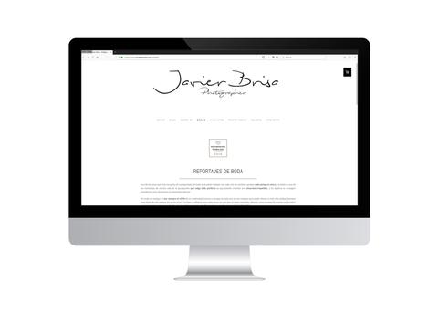 Página web de Javier Brisa vista en iMac