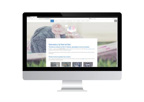 Página web de La Nube del Bebé vista en iMac