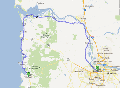 310 km