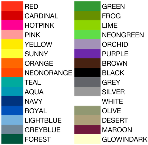conbands colors for wristbands
