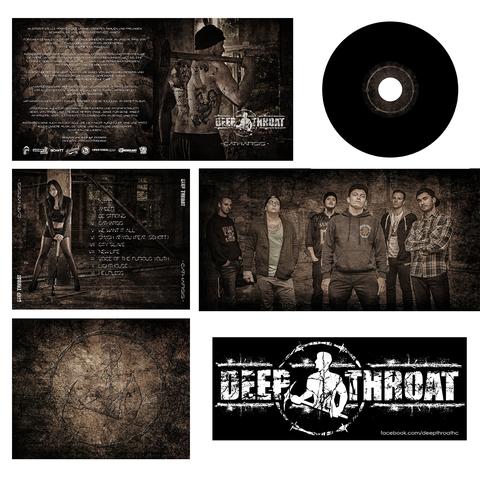 """Kompletes Cover Artwork und Logo für die Band """"Deep Throat"""""""