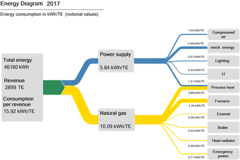 Energy flow diagram