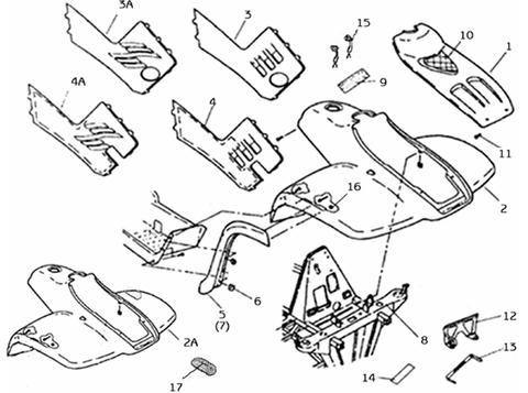 Carrosserie avant/chassis/autocollants