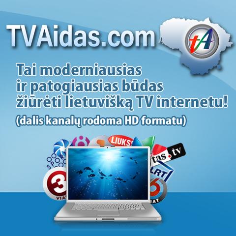13-os lietuviškų TV kanalų prenumerata tik $7.99 (apie €6.50) per