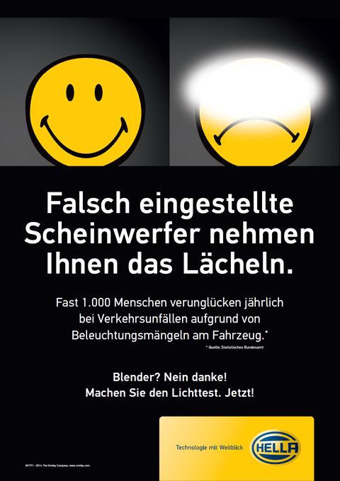 falsch eingestellte Scheinwerfer nehme Ihnen das Lächeln - Infobild