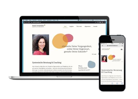 Website von Sarah Trentweber mit Webdesign und technischer Umsetzung von Alexander Kurzhöfer
