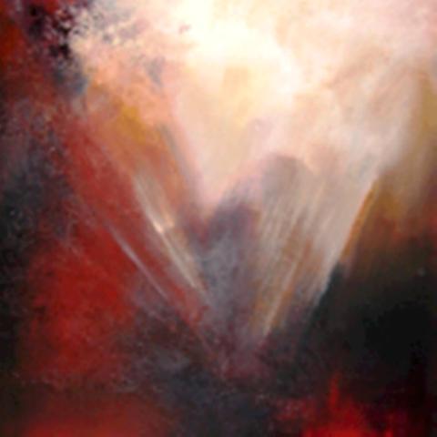 Explosie  - Olieverf  100 x 100 cm