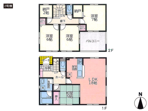 住所の新築 一戸建て分譲住宅の間取り図