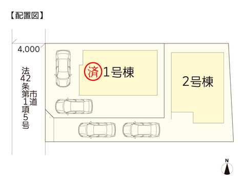 岡山県岡山市中区高島新屋敷の新築 一戸建て分譲住宅の区画図