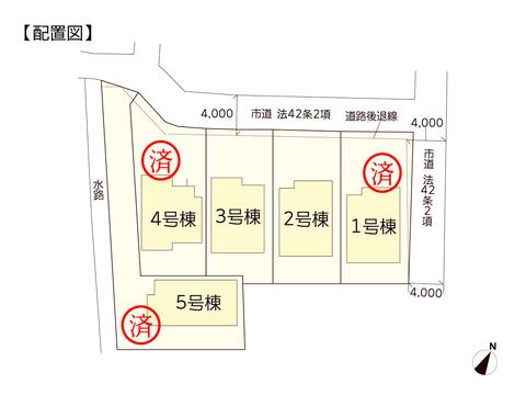 岡山県岡山市東区東平島の新築 一戸建て分譲住宅の区画図