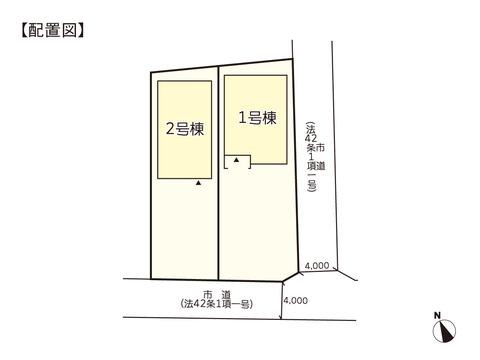 岡山市東区藤井の新築 一戸建て分譲住宅の区画図