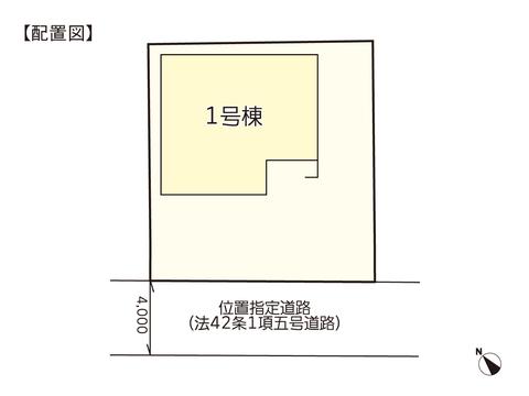 岡山市南区若葉町の新築 一戸建て分譲住宅の区画図