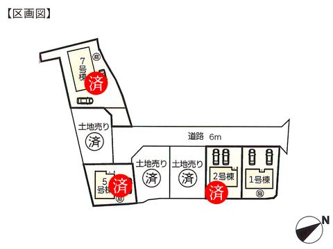 岡山県岡山市東区金岡東町の新築 一戸建て分譲住宅の区画図