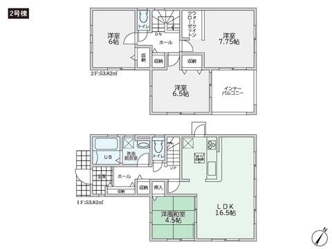 岡山県倉敷市児島赤崎1丁目の新築 一戸建て分譲住宅の間取り図