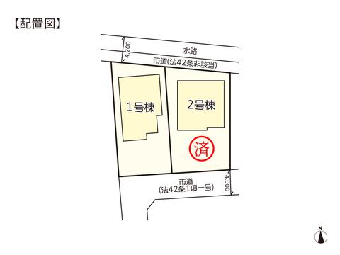 岡山市東区益野町の新築 一戸建て分譲住宅の区画図
