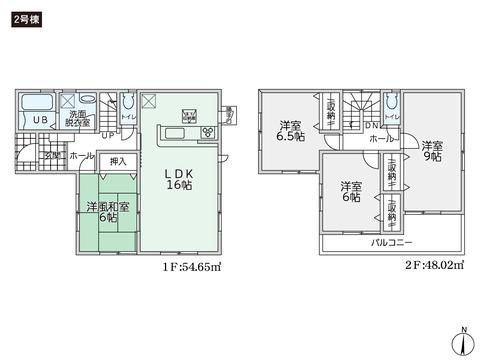 岡山県総社市井尻野の新築 一戸建て分譲住宅の間取り図