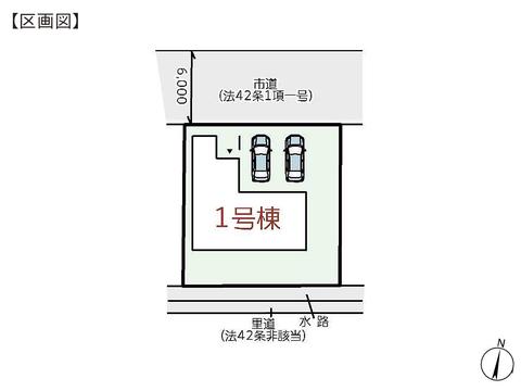 岡山県玉野市槌ケ原の新築 一戸建て分譲住宅の区画図