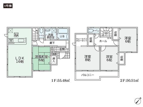 岡山県倉敷市林の新築 一戸建て分譲住宅の間取り図