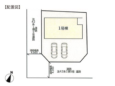岡山市北区辛川市場の新築 一戸建て分譲住宅の区画図