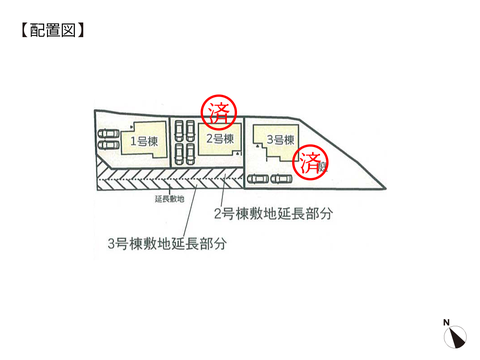 岡山県岡山市東区広谷の新築 一戸建て分譲住宅の区画図