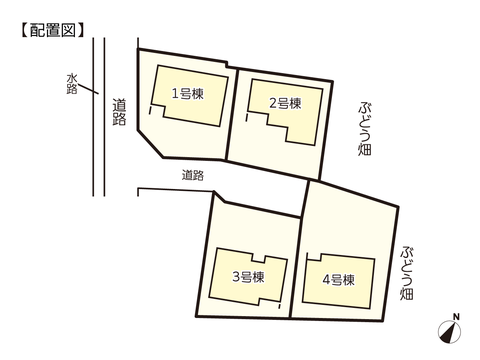 岡山県岡山市東区瀬戸町下の新築 一戸建て分譲住宅の区画図