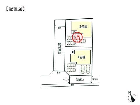 岡山県玉野市槌ヶ原の新築 一戸建て分譲住宅の区画図