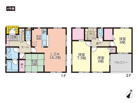 岡山県岡山市東区瀬戸町下の新築 一戸建て分譲住宅の間取り図