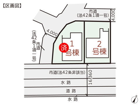 岡山県岡山市中区円山の新築 一戸建て分譲住宅の区画図