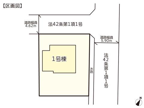 岡山県岡山市東区瀬戸町光明谷の新築 一戸建て分譲住宅の区画図