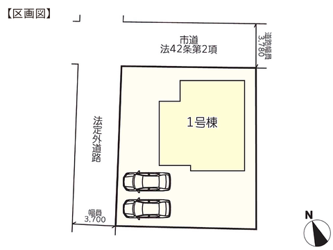 岡山県倉敷市水島北瑞穂町の新築 一戸建て分譲住宅の区画図