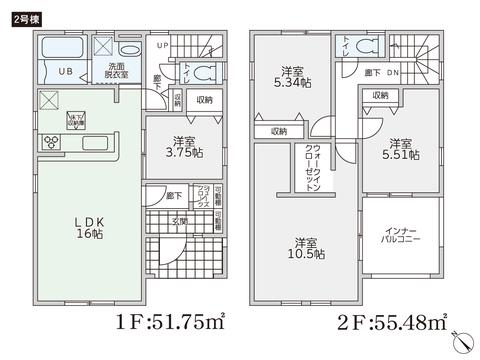 岡山県岡山市中区兼基の新築 一戸建て分譲住宅の間取り図